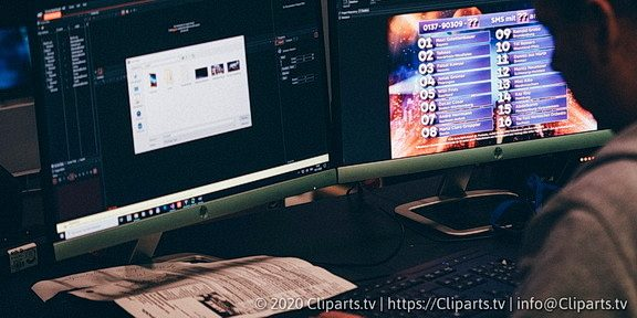 Cliparts.tv Spieletechnik für Luke Die Great Night Show - Copyright 2020 Cliparts.tv 324 005.